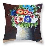 Deanne's Flower Pot Throw Pillow