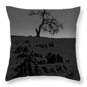 Death Of An Oak Tree Throw Pillow
