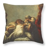 Death Of Cleopatra Throw Pillow