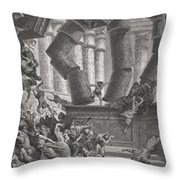 Death Of Samson Throw Pillow by Gustave Dore