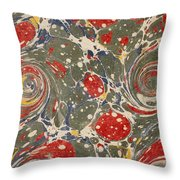 Decorative Endpaper From A Nineteenth Throw Pillow