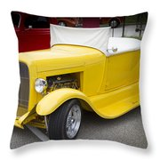 Deep Yellow Throw Pillow
