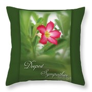 Deepest Sympathies Greeting Card Throw Pillow