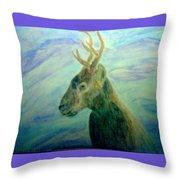 Deer At Home Throw Pillow