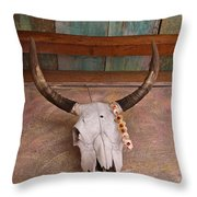 Degrazia Skull Throw Pillow