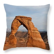 Delicate Arch At Sunset Throw Pillow