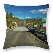 Denali Highway, Route 8, Bridge Crosses Throw Pillow
