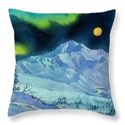 Denali Night Throw Pillow