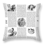 Dentures, 1853 Throw Pillow