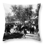 Denver: Healer, 1895 Throw Pillow