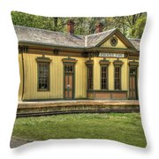 Chester Park Train Depot Throw Pillow