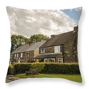 Derbyshire Cottages Throw Pillow