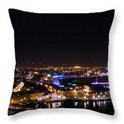 Derry At Night Throw Pillow