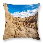 Desert And Blue Sky Throw Pillow