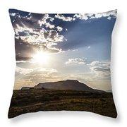 Desert Sun Throw Pillow
