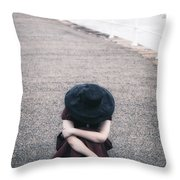 Desperate Throw Pillow by Joana Kruse