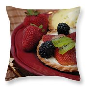 Dessert Tarts Throw Pillow
