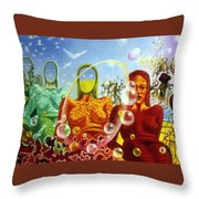 Detail From - The Dreamer's Night Throw Pillow