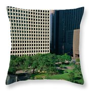 Detail Of Glass Building Throw Pillow