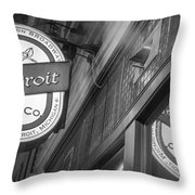Detroit Beer Company  Throw Pillow