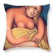 Detroit Industry - Detail From The East Wall Throw Pillow