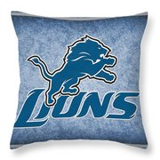 Detroit Lions Throw Pillow