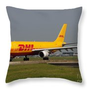Dhl Airbus A300 Throw Pillow