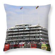 Diamond Jubilee Weekend At The Derby Horse Race On Epsom Downs  Throw Pillow