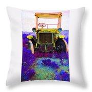 Diamond T Touring Car C.1911 Ghost Town South Pass City Wyoming 1971-2009 Throw Pillow