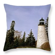 Dice Head Lighthouse Throw Pillow