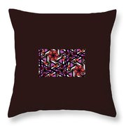 Digi-flora Throw Pillow