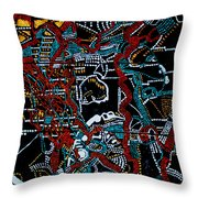 Dinka - South Sudan Throw Pillow by Gloria Ssali