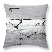 Dinner Time At Pelican Land Throw Pillow