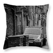 Dirty Back Streets Mono Throw Pillow