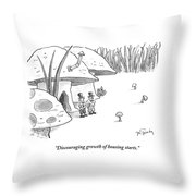 Discouraging Growth Of Housing Starts Throw Pillow