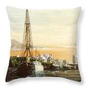 Discovery On The Banks Of The River Thames London Throw Pillow