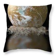 Dissolving Earth Throw Pillow