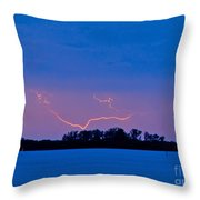 Distant Lightning Throw Pillow