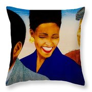 Dizzy And Friends Throw Pillow