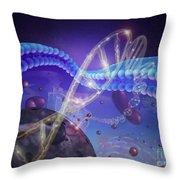 Dna And Chromosomes Throw Pillow