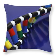Dna Double Helix Throw Pillow