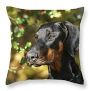 Dobermann Dog Throw Pillow