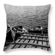 Dock At Island Lake Throw Pillow