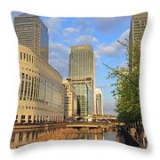 Docklands London Throw Pillow
