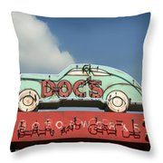 Doc's Bar And Grill Throw Pillow