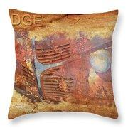 Dodge In Rust Throw Pillow