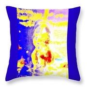 when you wish upon a dog star I wonder who you really are  Throw Pillow