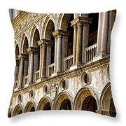 Doges Palace - Venice Italy Throw Pillow