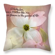 Dogwood Blossoms.  Throw Pillow