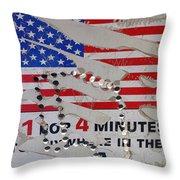 1 Dollar For Four Minutes Sign Telephone American Flag Eloy Arizona 2005 Throw Pillow